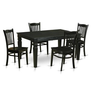 Weston 5 Piece Dining Set by Wooden Importers Wonderful