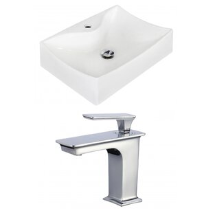 Ceramic 22 Bathroom Sink with Faucet by Royal Purple Bath Kitchen