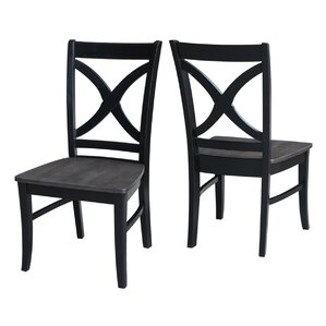Phoenix Solid Wood Dining Chair (Set of 2) by Red Barrel Studio