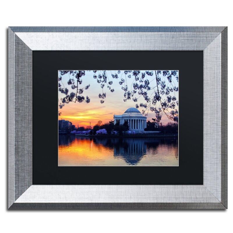 Trademark Art Jefferson Memorial Sunrise By Cateyes Framed Photographic Print Wayfair