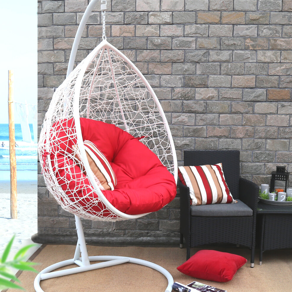 Stupendous Oval Egg Hanging Patio Swing Chair Download Free Architecture Designs Ferenbritishbridgeorg
