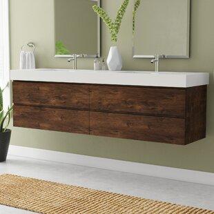 Sinope 79 inch  Wall-Mounted Double Bathroom Vanity Set
