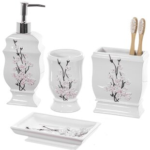 Find for Bostic 4-Piece Bathroom Accessory Set ByWorld Menagerie