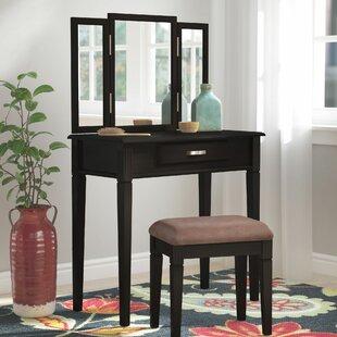 Andover Mills Lewis Vanity Set with Mirror
