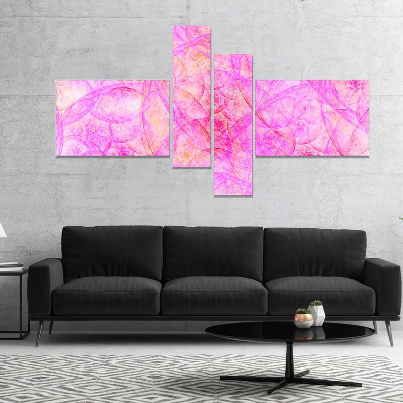 East Urban Home \'Rose Fractal Dramatic Clouds\' Graphic Art Print ...