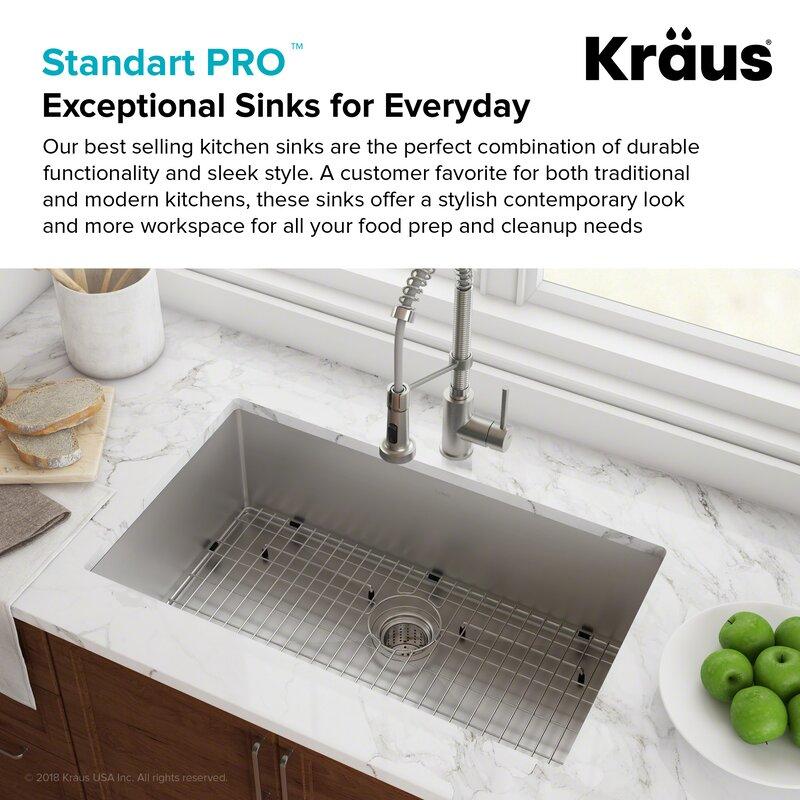 Kraus standart pro 26 x 18 undermount kitchen sink reviews standart pro 26 x 18 undermount kitchen sink workwithnaturefo