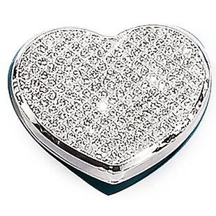 House of Hampton Fitz Sparkle Heart Makeup Mirror