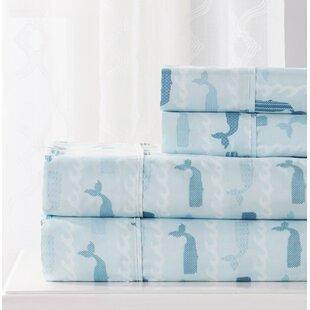 Abigale 4 Piece Whale Sheet Set