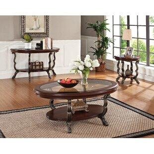 Epsom 3 Piece Coffee Table Set Fleur De Lis Living