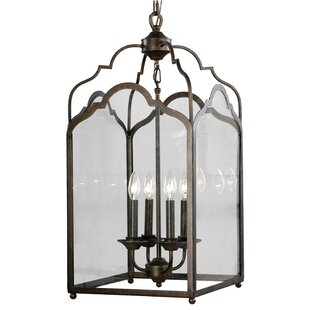 Stately 4-Light Geometric Chandelier by Mariana Home