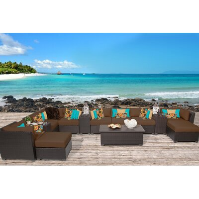 8 9 Person Cushioned Patio Conversation Sets You Ll Love