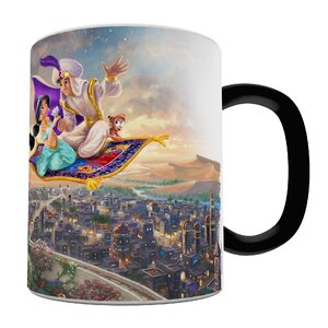 Aladdin and Princess Jasmine Heat Sensitive Coffee Mug