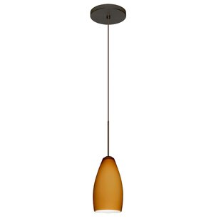 Karli 1-Light Cone Pendant by Besa Lighting