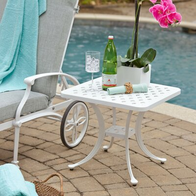 Flagg Cast Aluminum Side Table by Darby Home Co No Copoun