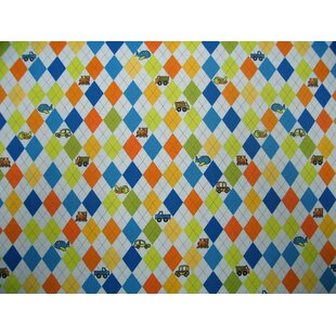 Shopping for Argyle Transport Mini Fitted Crib Sheet By Sheetworld