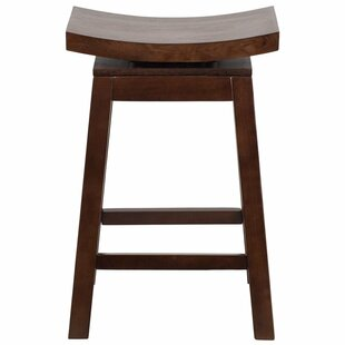 Follis 26'' Saddle Swivel Bar Stool by Bloomsbury Market