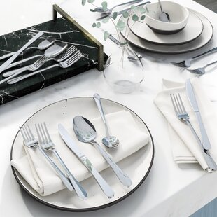 Wayfair Basics 20 Piece Stainless Steel Flatware Set, Service for 4