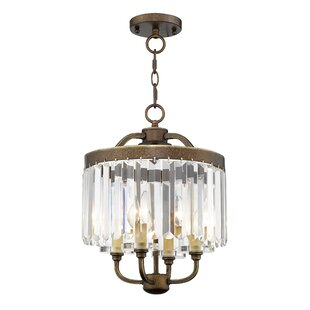 Caroline 4-Light Crystal Chandelier by Ho..
