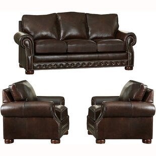 Great Price Pelaez 3 Piece Leather Sleeper Living Room Set by Canora Grey Reviews (2019) & Buyer's Guide