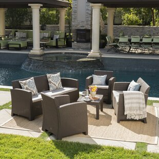 Highland Dunes Bartonville 5 Piece Sofa Set with Cushions