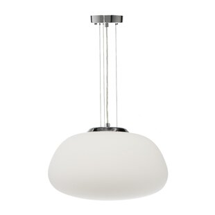 Colrain Opal Glass 1-Light Inverted Pendant by Zipcode Design