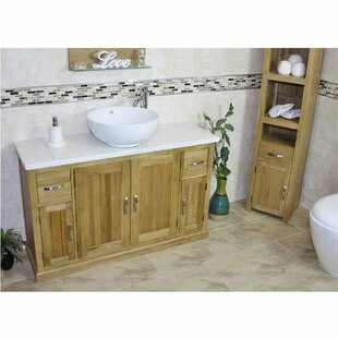 Dellinger Solid Oak 1230mm Free-Standing Vanity Unit By Belfry Bathroom