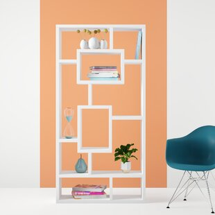 Safi Rectangular Geometric Bookcase by Hashtag Home