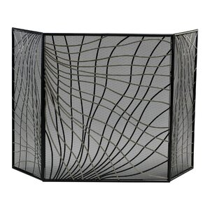 Finley 3 Panel Iron Fireplace Screen