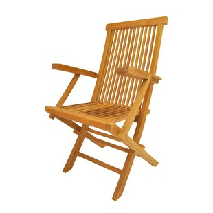 Clasic Folding Teak Patio Chair (Set of 2)