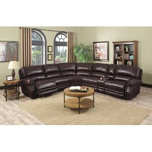 Justin Leather Reclining Sectional  sc 1 st  Wayfair & Reclining Sectionals You\u0027ll Love | Wayfair islam-shia.org