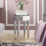 Christy Mirrored End Table by Willa Arlo Interiors