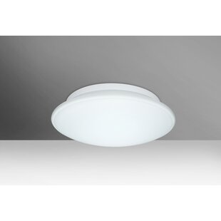 Bargain Sola 2-Light Outdoor Flush Mount By Besa Lighting