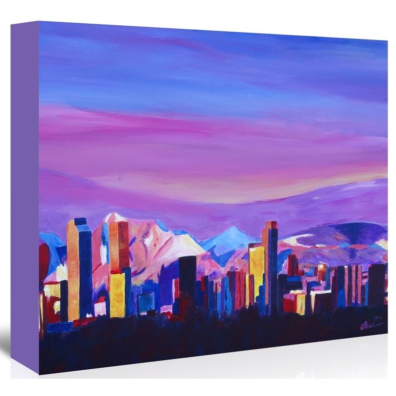 East Urban Home Denver Colorado Sunset Mood With Mountains Painting On Unwrapped Canvas Wayfair
