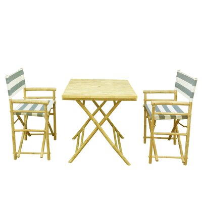 Buyers Choice Phat Tommy 3 Piece Bistro Set  Color: Blue