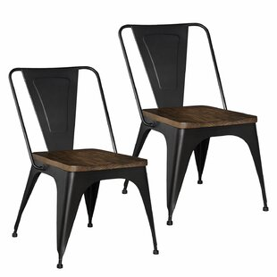 Leandra Metal Dining Chair (Set of 2) Williston Forge