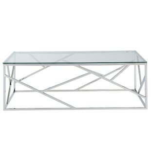 House of Hampton Mentzer Stainless Steel Coffee Table