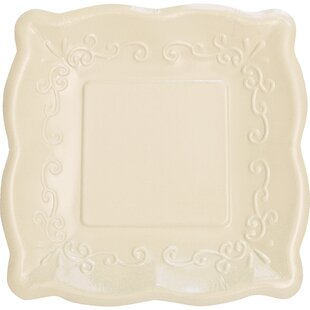 Embossed Paper Dinner Plate (Set of 8)