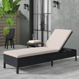 Gaddis Reclining Chaise Lounge with Cushion byAndover Mills
