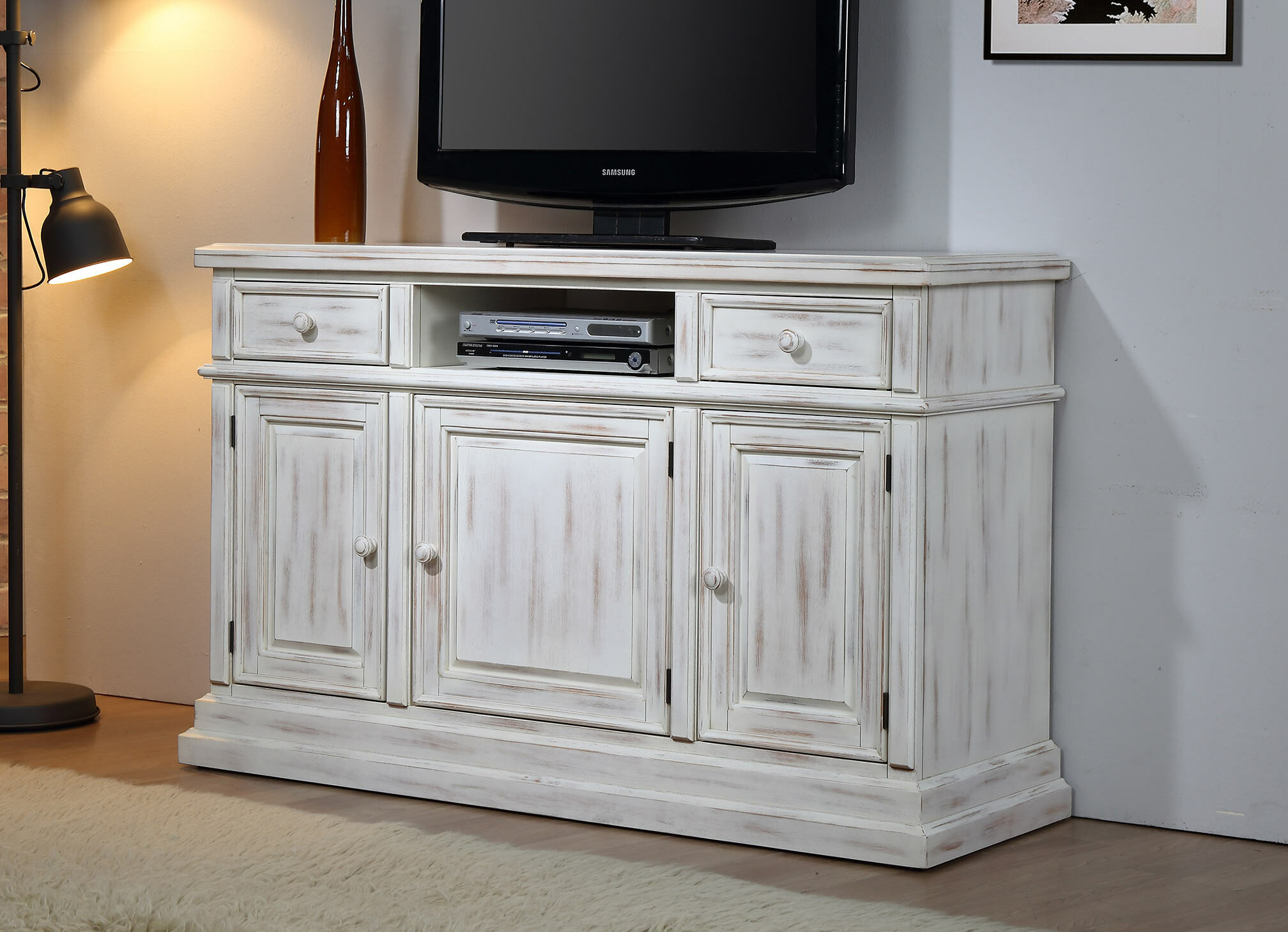 Chasity Solid Wood Tv Stand For Tvs