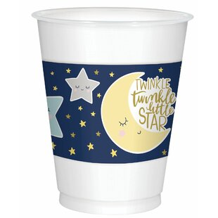 Twinkle Little Star Baby Shower Plastic Disposable Every Day Cup (Set of 75)