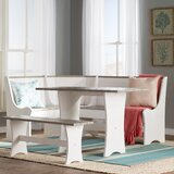 Monroe 3 Piece Breakfast Nook Dining Set by Beachcrest Home™
