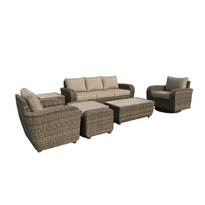 Prime Brunswick 7 Piece Rattan Sofa Seating Group With Cushions Cjindustries Chair Design For Home Cjindustriesco