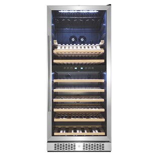 53 Bottle Touch Panel Double Zone Freestanding Wine Cooler