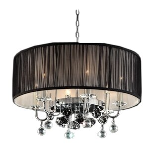 ORE Furniture Crystal Rose 6-Light Pendant