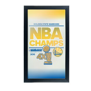Trademark Global NBA Golden State Warriors 2015 Champions Framed Logo Wall Mirror