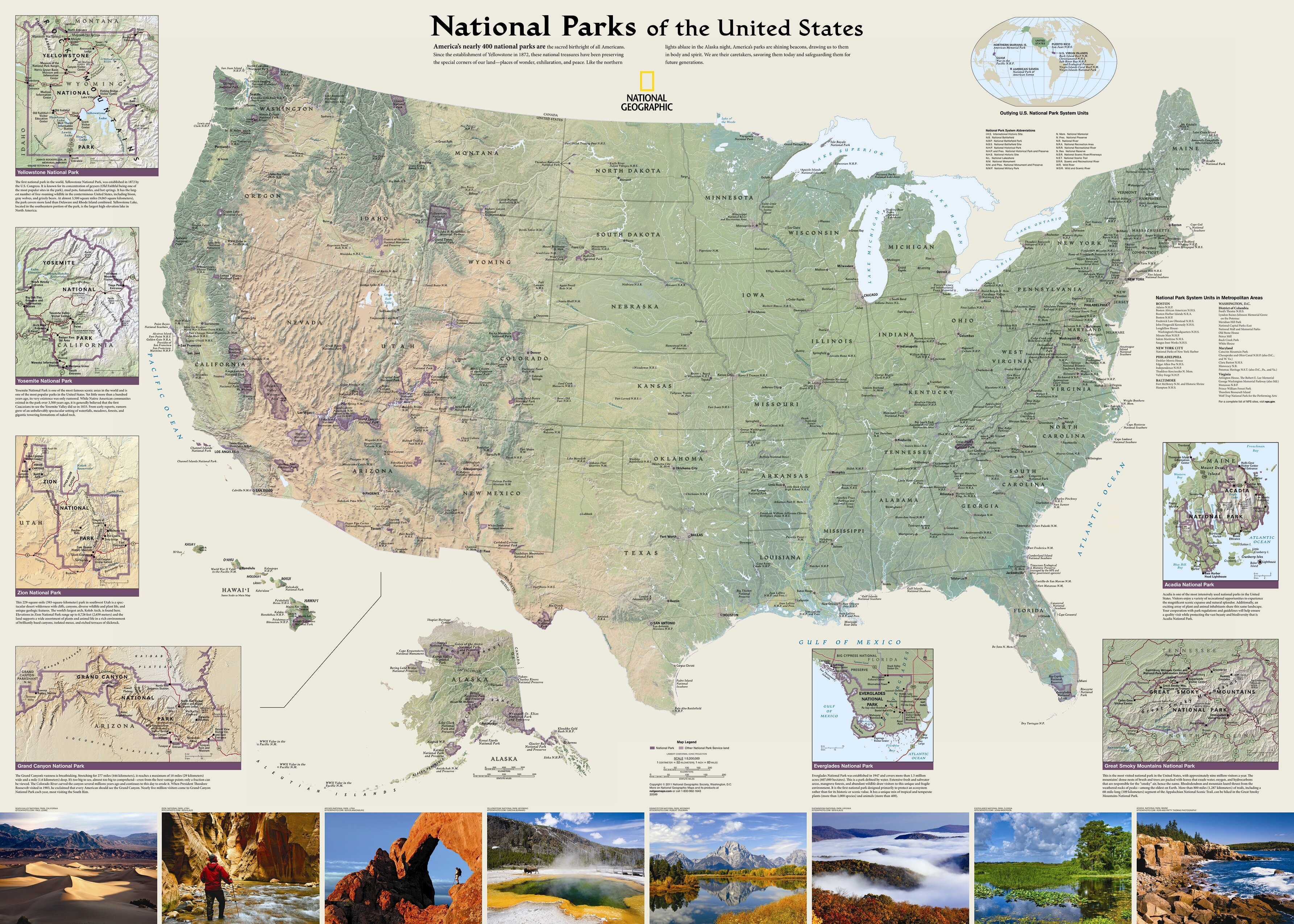 National Geographic Maps United States National Parks Wall Map | Wayfair
