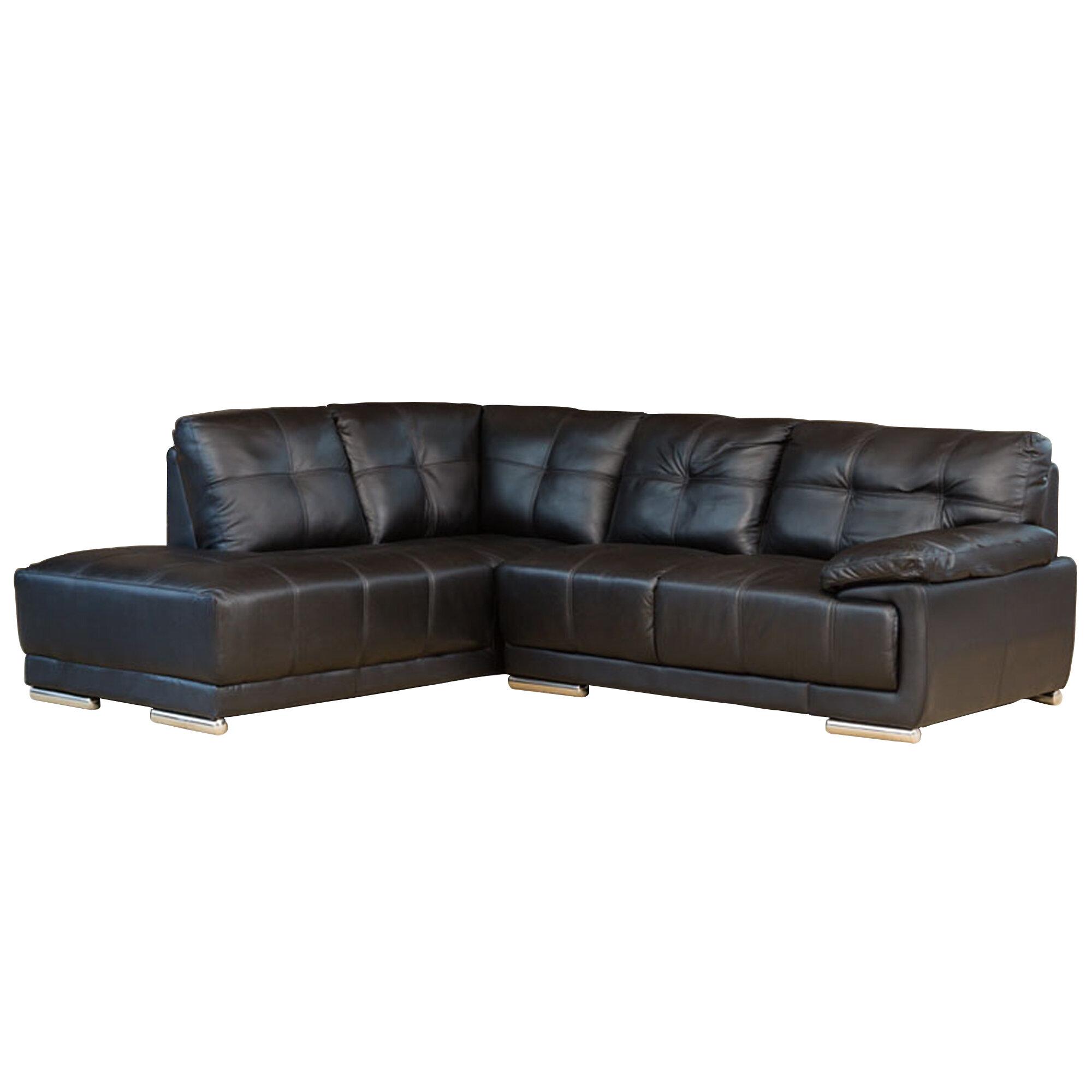 Maud Leather Modular Corner Sofa