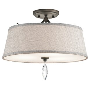 Brookline 3-Light Semi Flush Mount by Willa Arlo Interiors