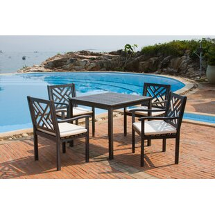Chillicothe 5 Piece Dining Set with Cushi..