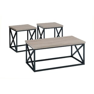 Gracie Oaks Joseline 3 Piece Coffee Table Set (Set of 3)